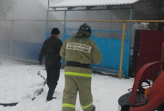 Пожар в Рамонском районе — МЧС России по Воронежской области