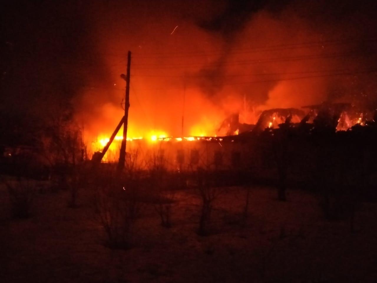 Пожар в Панинском районе — МЧС России по Воронежской области