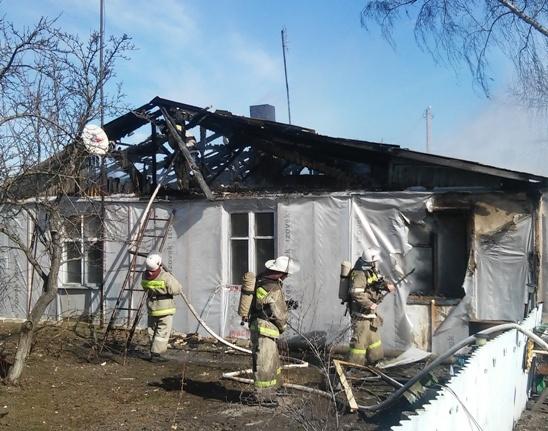 Пожар в Хохольском районе — МЧС России по Воронежской области