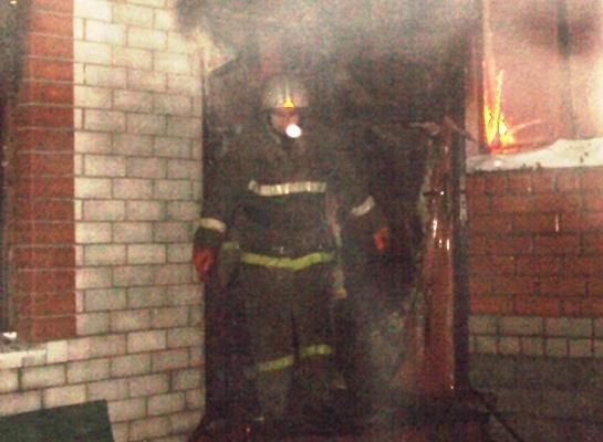 Пожар в Нижнедевицком районе — МЧС России по Воронежской области