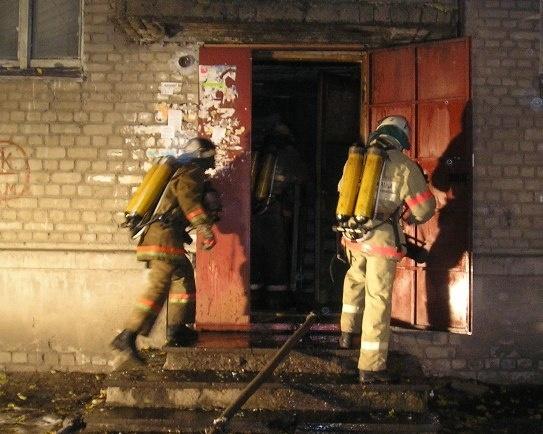Пожар в Коминтерновском районе г.о.г. Воронеж